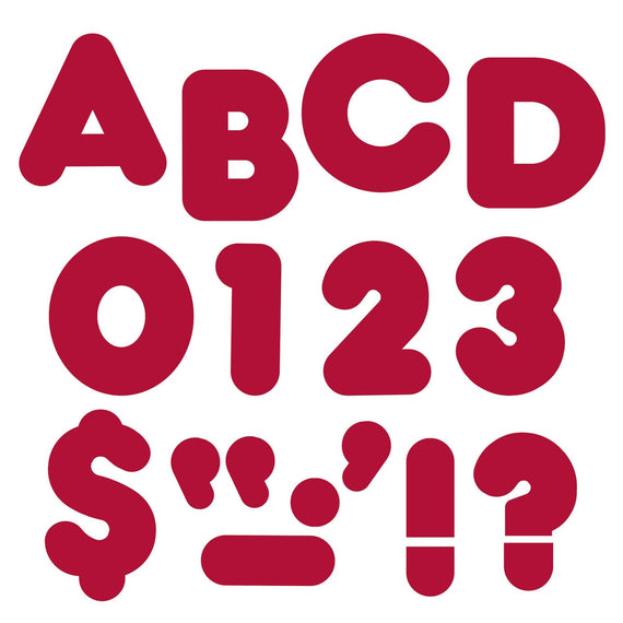 Maroon 4-Inch Casual Uppercase Ready Letters®
