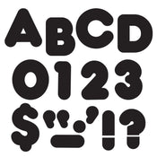 Black 4-Inch Casual Uppercase Ready Letters®