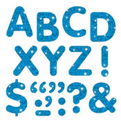 Blue Sparkle 2-Inch Letters & Marks Stick-On
