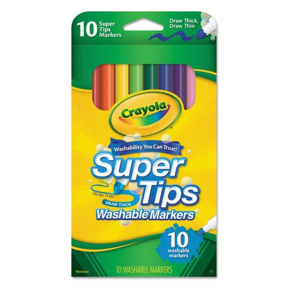 Crayola Washable Super Tips Markers Assorted 10/pk