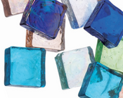 Colored Square Glass Beads 46/pk