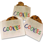 "Printed ""Cookie"" Bags 4 7/8"" x 4"" 250/pk"