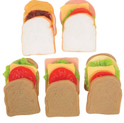 Play Sandwich Making Set, White and Wheat Bread