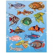 Fish Die Cut Stickers 25/sheets