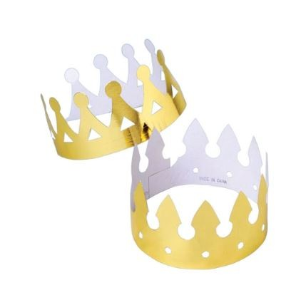 Gold Foil Crowns 12/pk