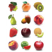"Fruit Stickers 1.2"" 10 sheets"