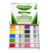Crayola Fine Tip Marker Classpack Assorted Colors Set of 200