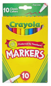 Crayola Fine Tip Marker Set, Classic Colors, 10/pk
