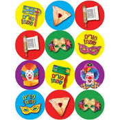 "Purim Symbol Stickers 1"" (120 Stickers in a pack)"