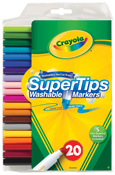 Crayola Super Tip Washable Markers 20 Count