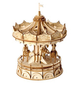 3D Wooden Puzzle: Merry-Go-Round