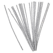 Tinsel Stems 6mm Silver 25 pieces