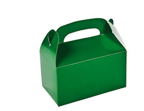 "Green Treat Box 6.25"" 12/pk"