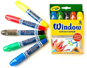 Window Crayons 5/pk