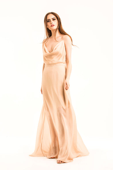 maxi-dress-champagne-nude-wedding-bride