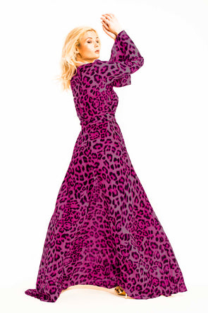 Kaftan-Dress-Pink-Leopard-Print