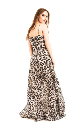 Maxi-dress-black-white-leopard-print