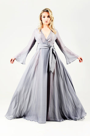 Silver-Grey-Kaftan-Wrap-Summer-Beach-Dress