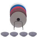 8 Inch Pro Diamond Sanding Disc Set With Backing Plates (stand not included)