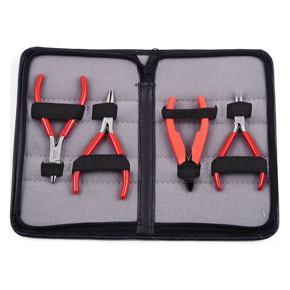 4 Pc Beginner Jewelry Tool Kit (Red)