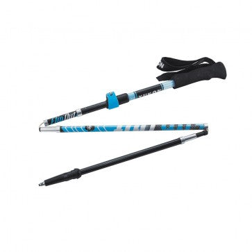 YC FlipOut Trekking Pole - Carbon-Blue/Gray - Matlock Trading Company