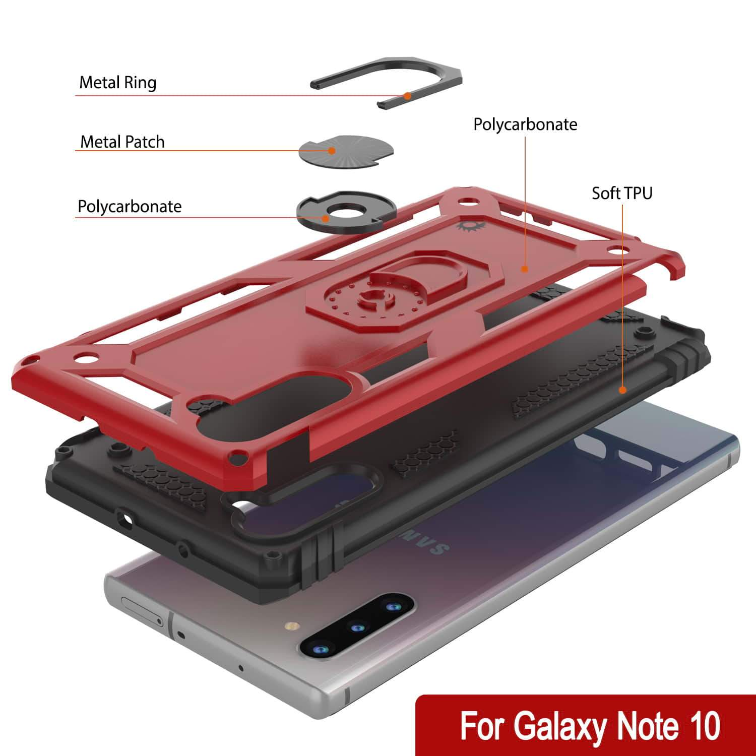 Galaxy Note 10 Punkcase Armor Military Case Red