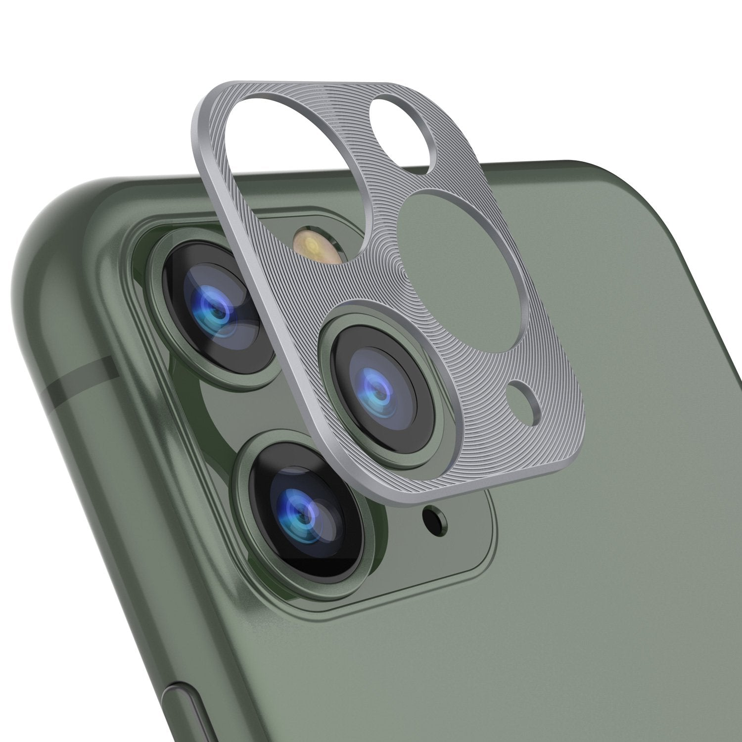 Punkcase iPhone 11 Pro Camera Protector Ring [Silver]