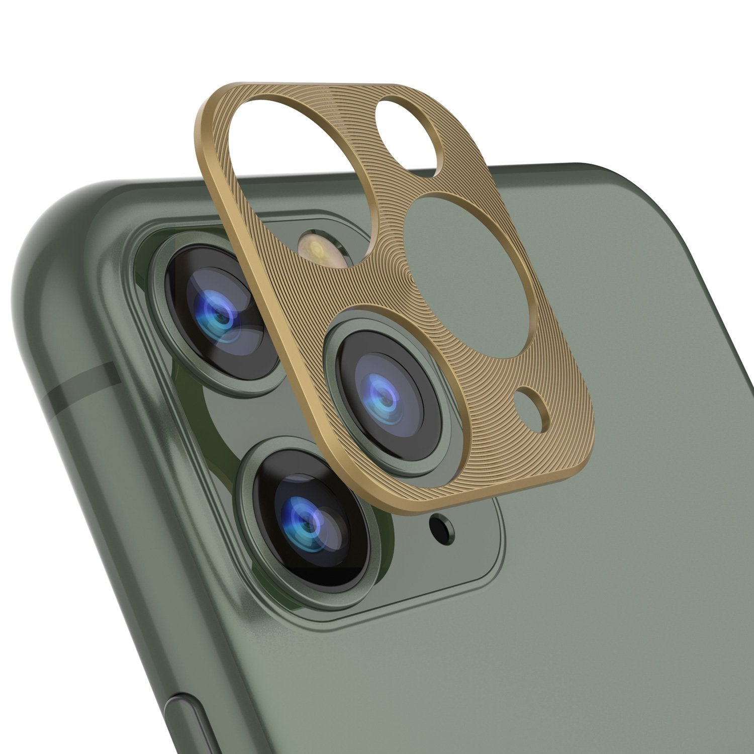 Punkcase iPhone 11 Pro Max Camera Protector Ring [Gold]