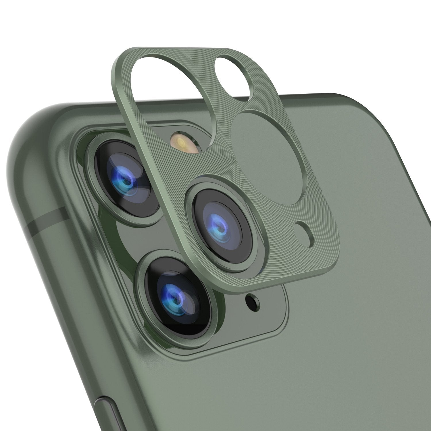 Punkcase iPhone 11 Pro Max Camera Protector Ring [Green]