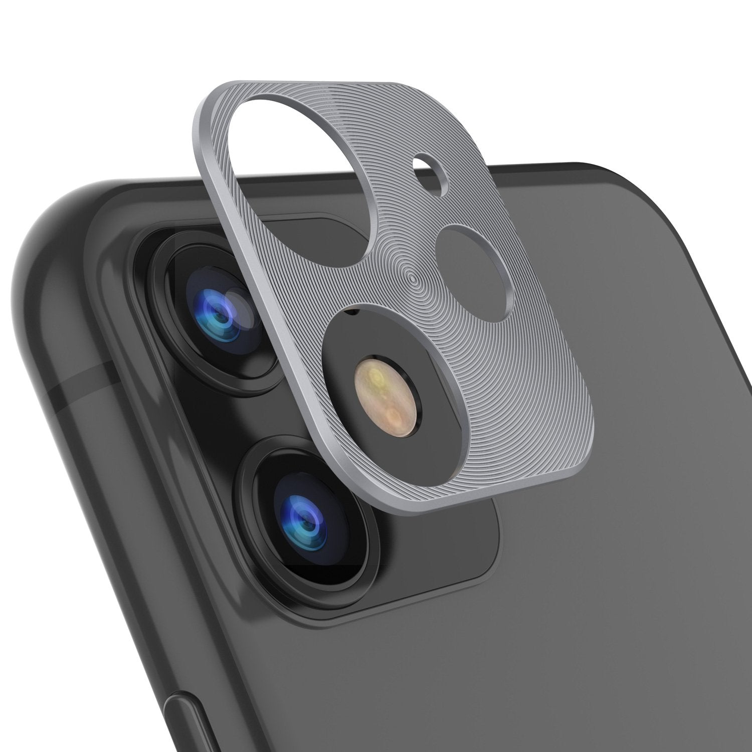 Punkcase iPhone 11 Camera Protector Ring [Silver]
