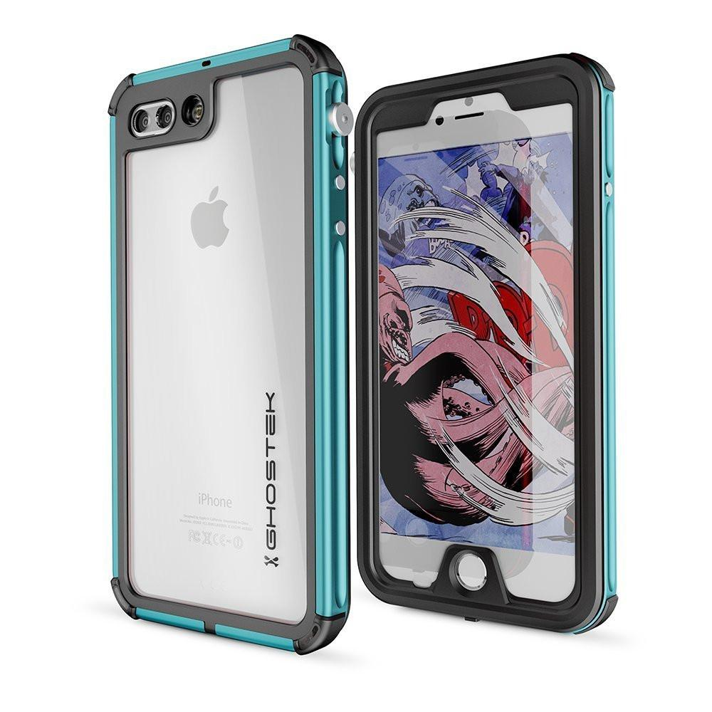iPhone 7+ Plus Waterproof Case, Ghostek® Atomic 3 Series for Apple iPhone 7+ Plus | Underwater | Shockproof | Dirt-proof | Snow-proof | Aluminum Frame | Adventure Ready | Ultra Fit | Swimming (Teal)