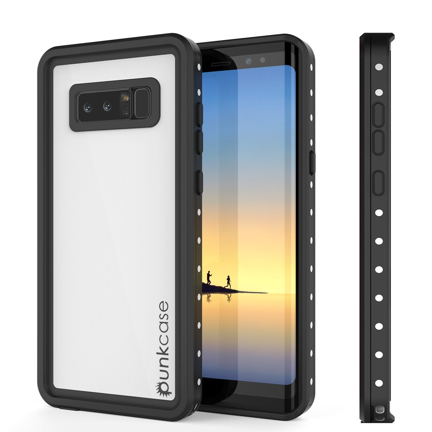 Galaxy Note 8 Waterproof Punkcase, StudStar Series Armor Cover [WHITE]