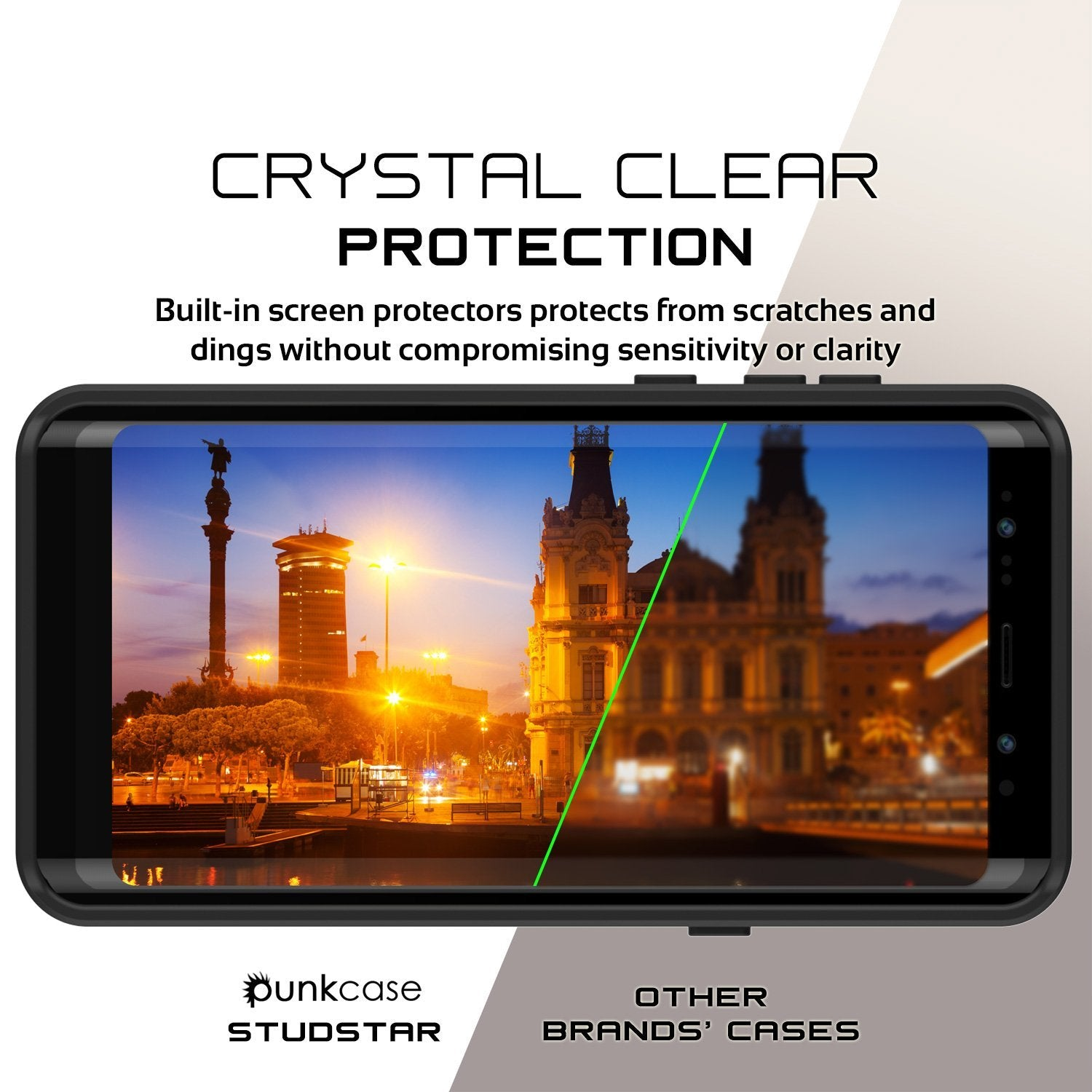Galaxy Note 8 Waterproof case, StudStar Series Armor Cover, [CLEAR]