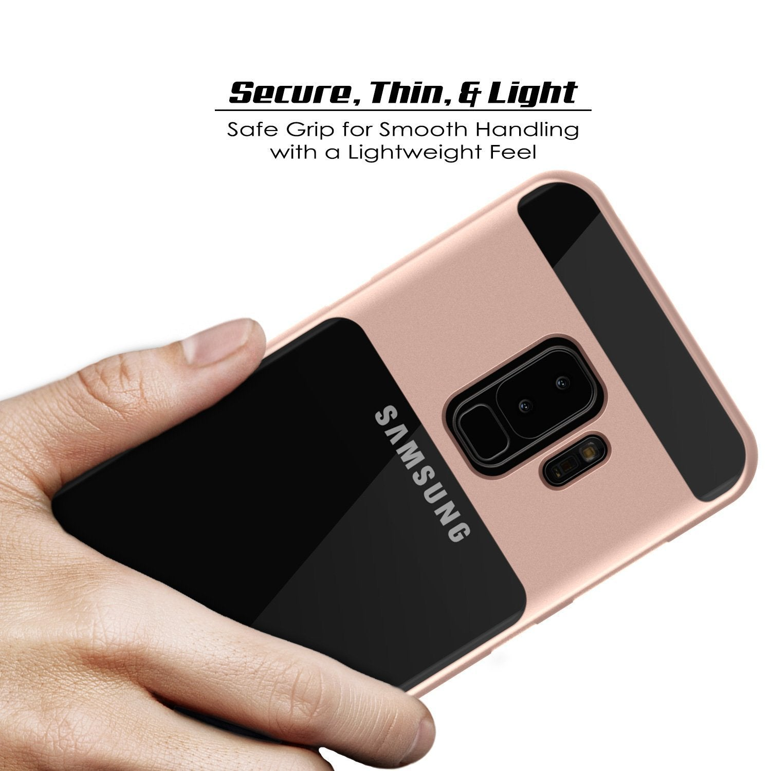 Galaxy S9+ Plus PunkCase, [LUCID 3.0 Series] [Slim Fit] [Rose Gold]