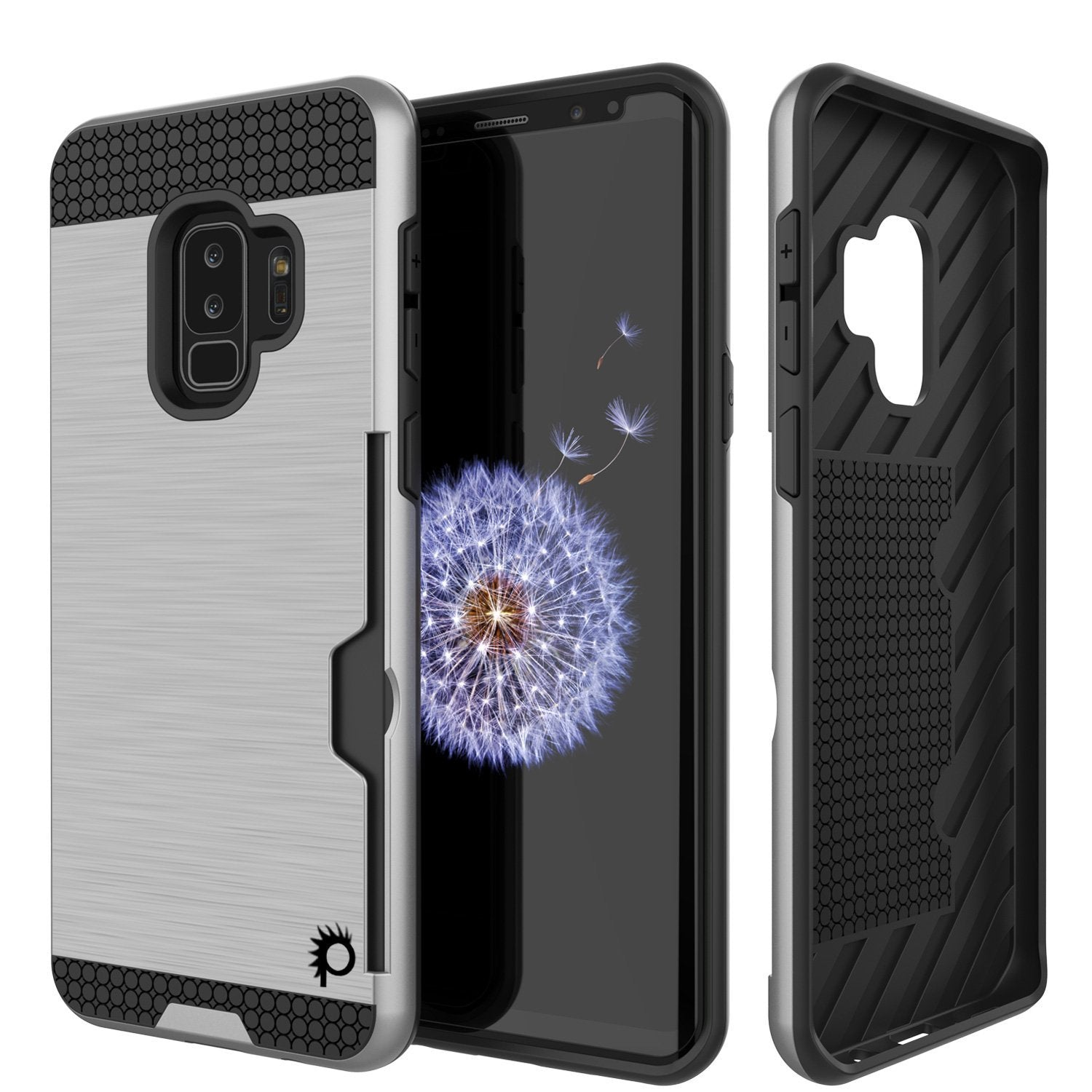 Galaxy S9 Plus Punkcase SLOT Series w/Integrated Anti-Shock, Silver