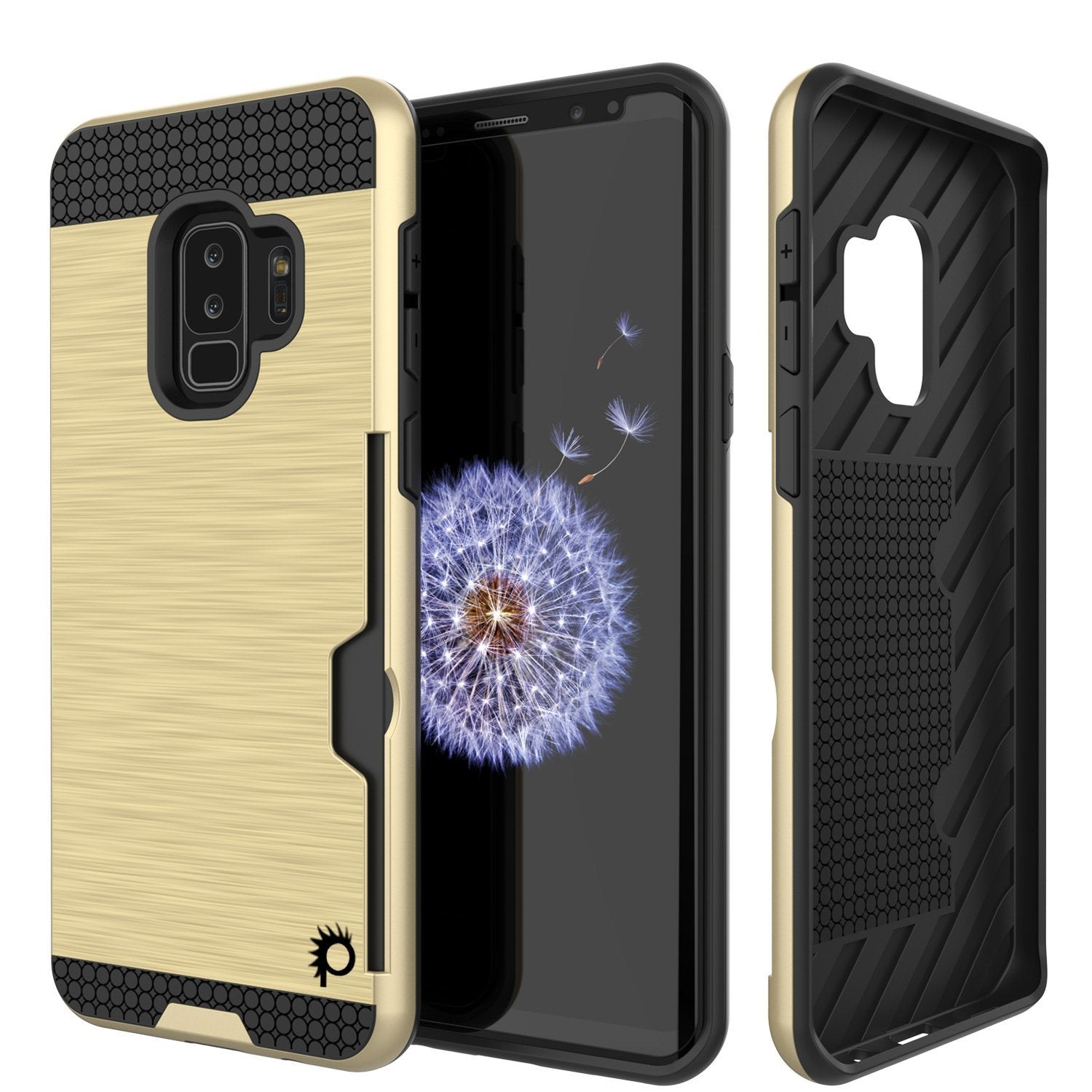 Galaxy S9 Plus Punkcase SLOT Series w/Integrated Anti-Shock, Gold
