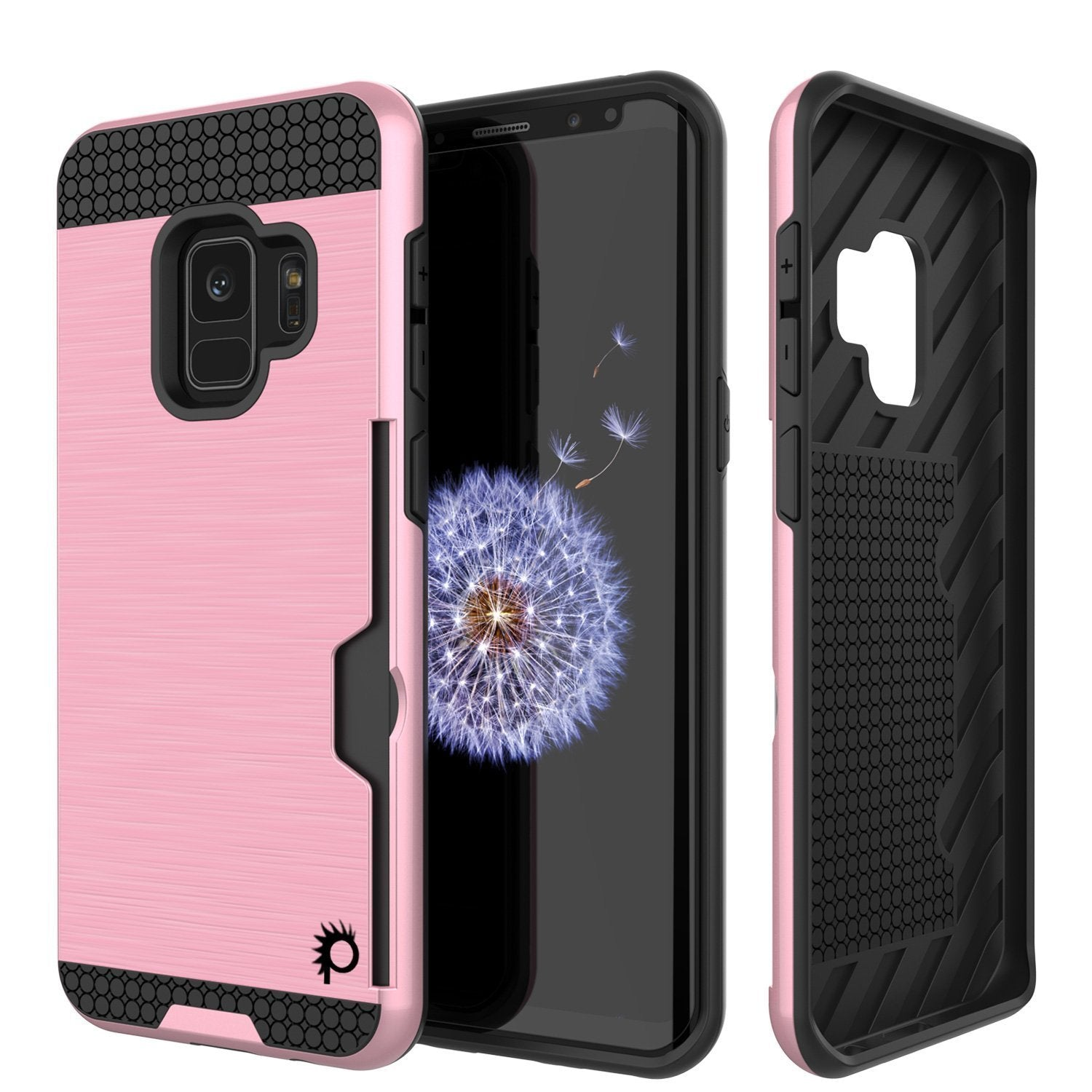 Galaxy S9 case, Punkcase SLOT Series Dual-Layer Cover [pink]