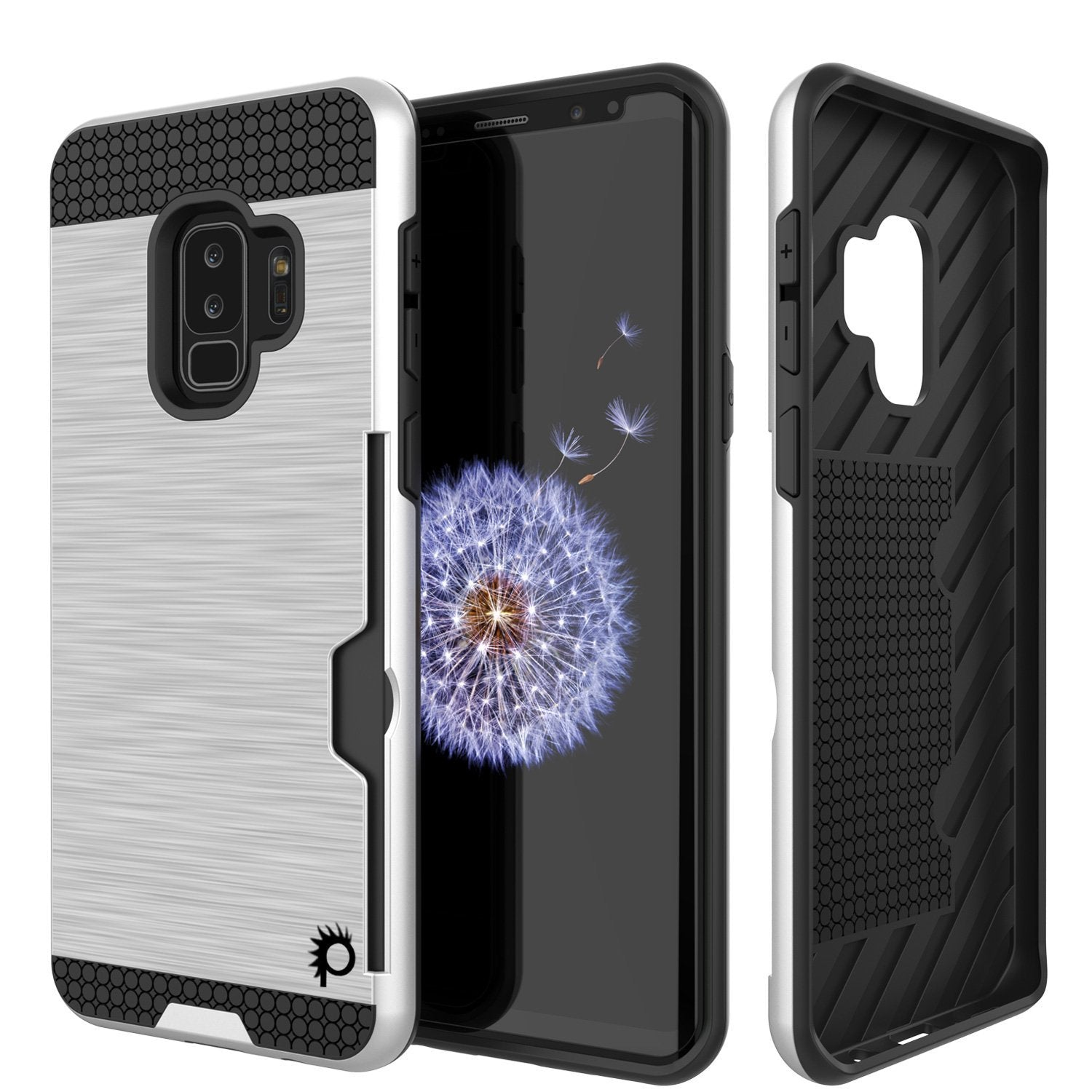 Galaxy S9 Plus Punkcase SLOT Series w/Integrated Anti-Shock, [White]