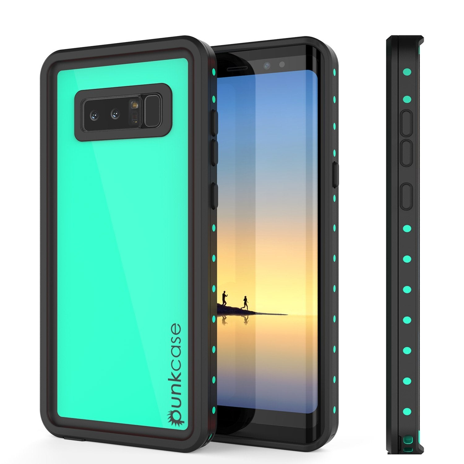 Galaxy Note 8 Waterproof Punkcase, StudStar Series Armor Cover [TEAL]