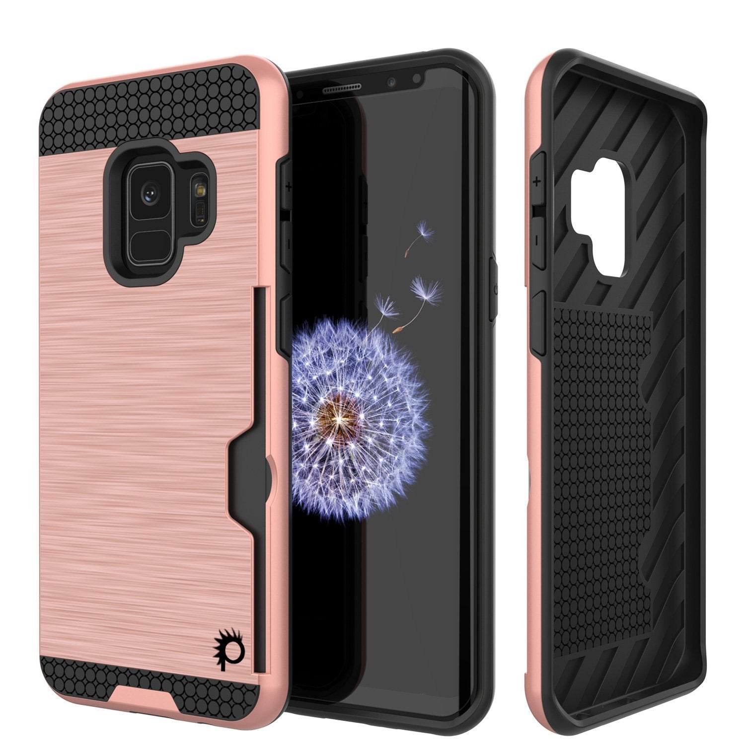 Galaxy S9 case, Punkcase SLOT Series Dual-Layer Cover [Rose Gold]
