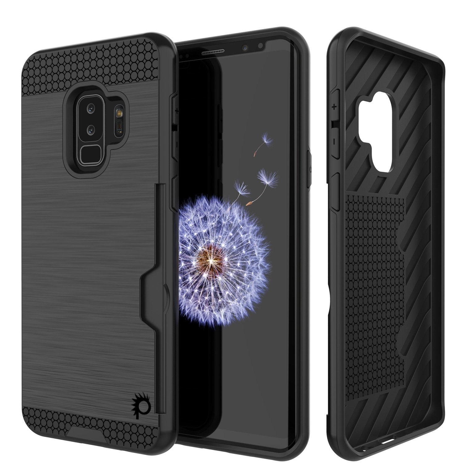Galaxy S9 Plus Punkcase Slot Series w/Integrated Anti-Shock, Black