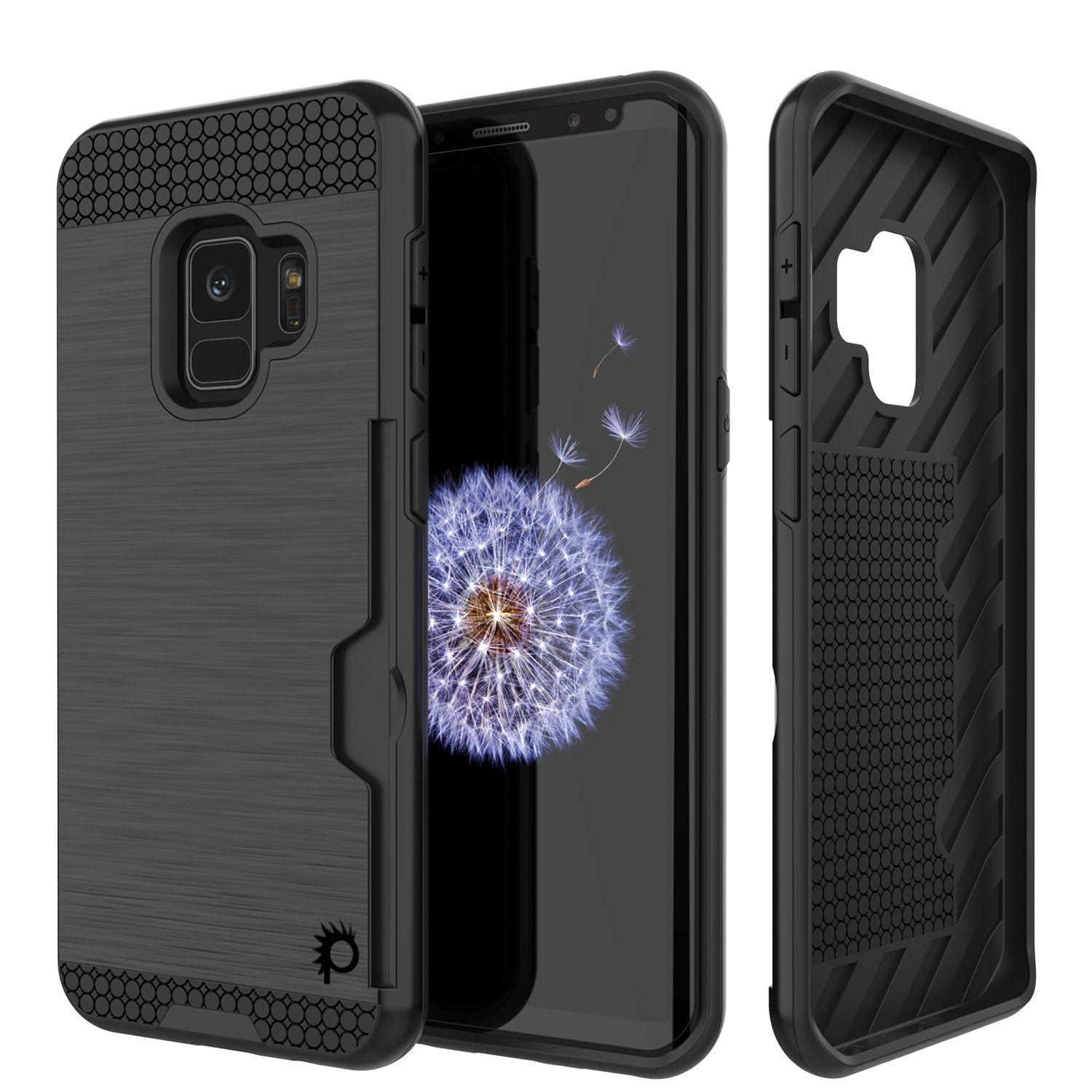 Galaxy S9 case, Punkcase SLOT Series Dual-Layer Cover [Black]
