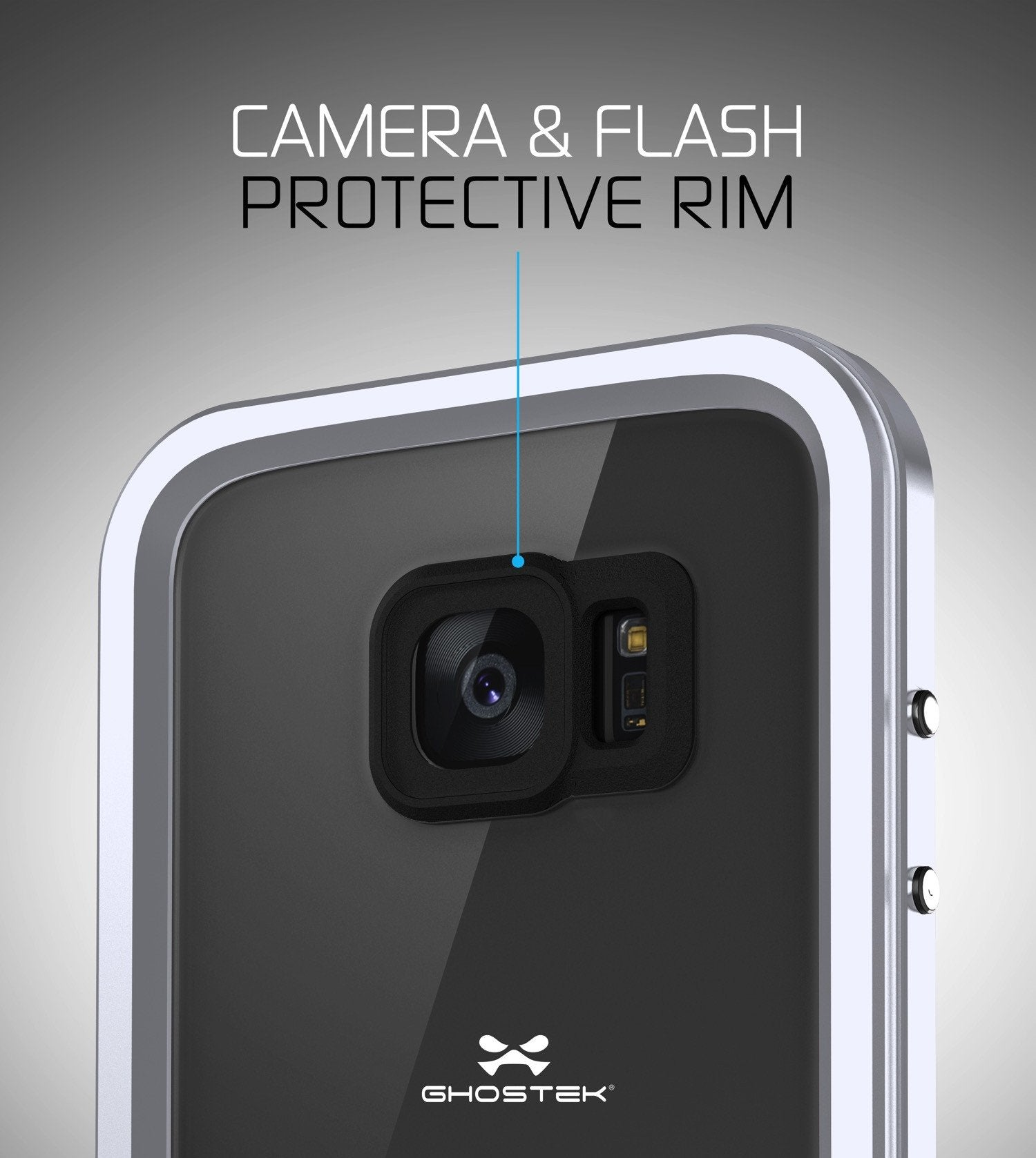 Galaxy S7 EDGE Waterproof Case, Ghostek Atomic 2.0 Silver Shock/Dirt/Snow Proof | Lifetime Warranty