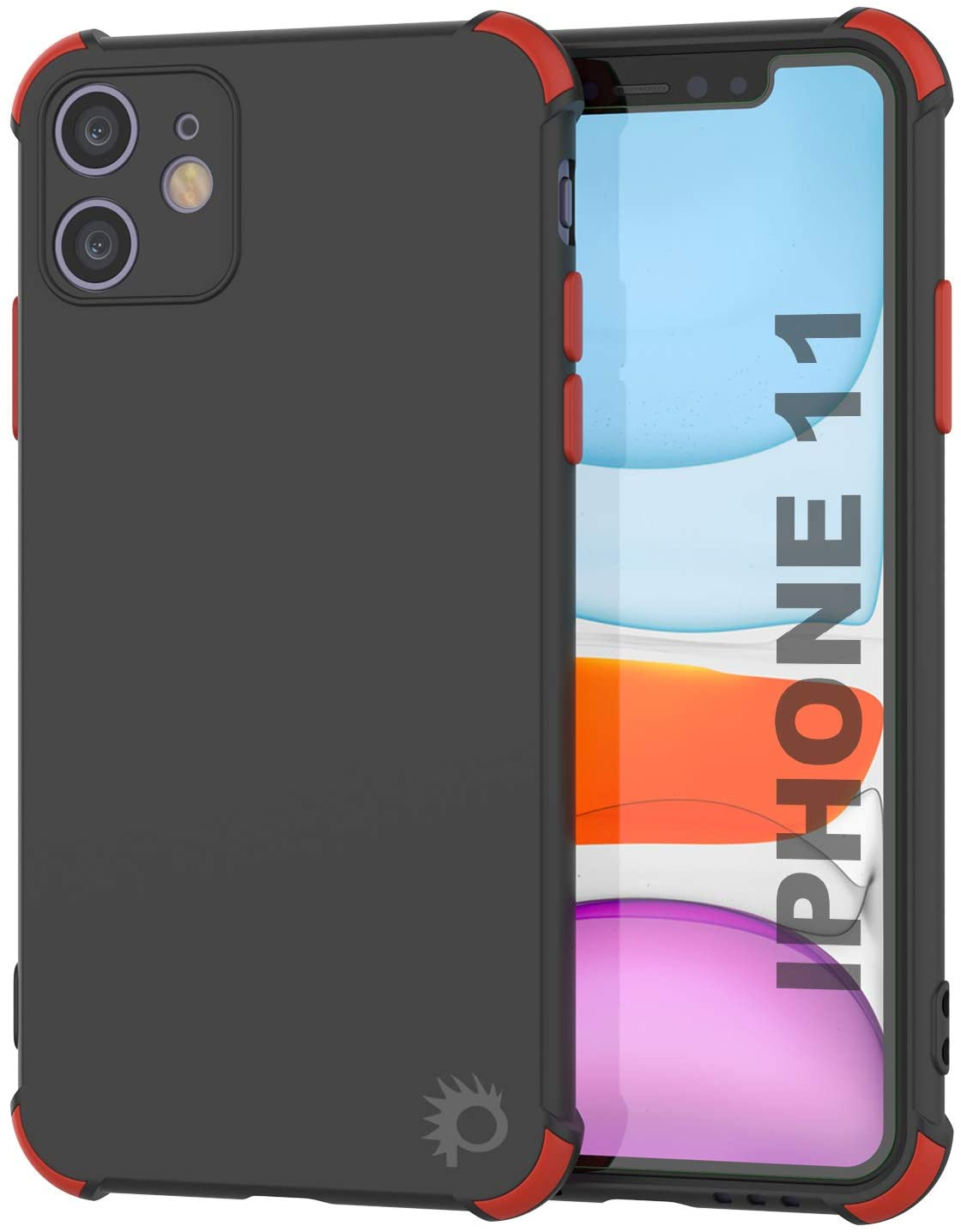 Punkcase Protective & Lightweight TPU Case [Sunshine Series] for iPhone 11 [Black]