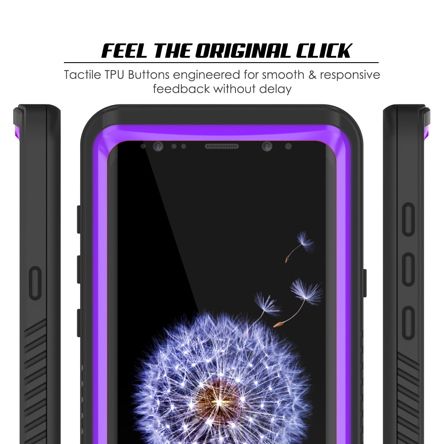 Galaxy S9 Plus, Punkcase Extreme W/ Built Screen Protector Purple