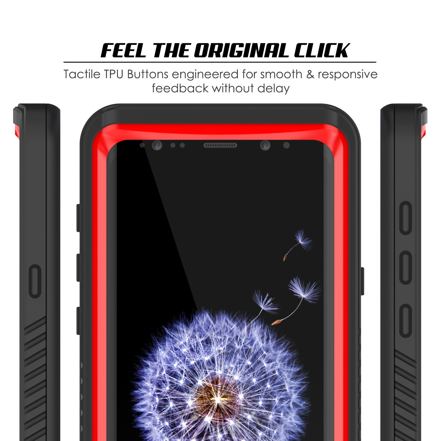 Galaxy S9 Punkcase Extreme Series Armor Cover W/ Built In Screen [Red]