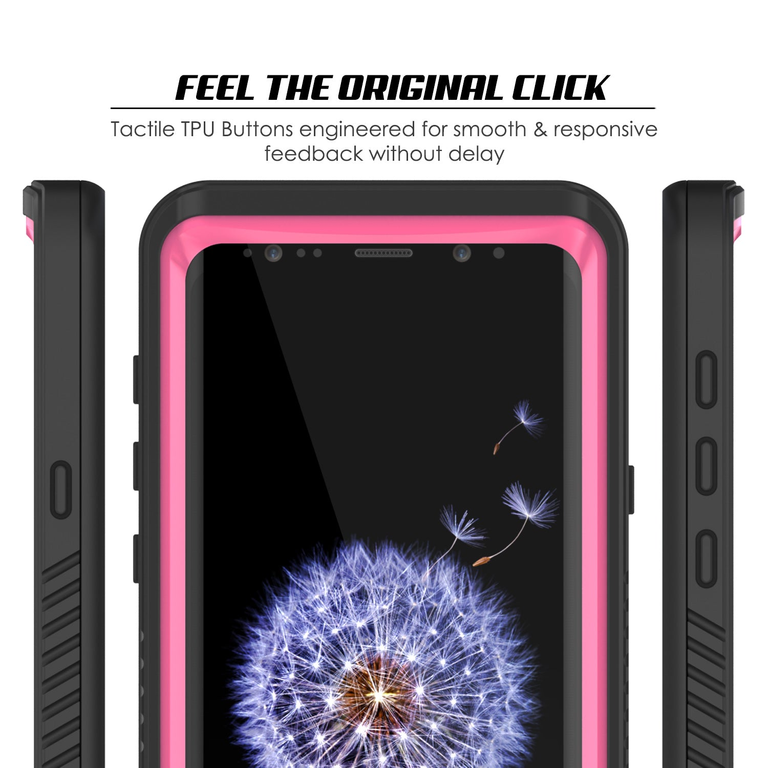 Galaxy S9 Plus, Punkcase Extreme Series W/ Built Screen Protector Pink