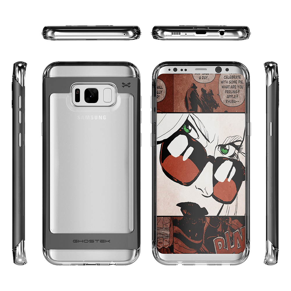 Galaxy S8 Plus Case, Ghostek 2.0 Black Series Case, Aluminum Frame