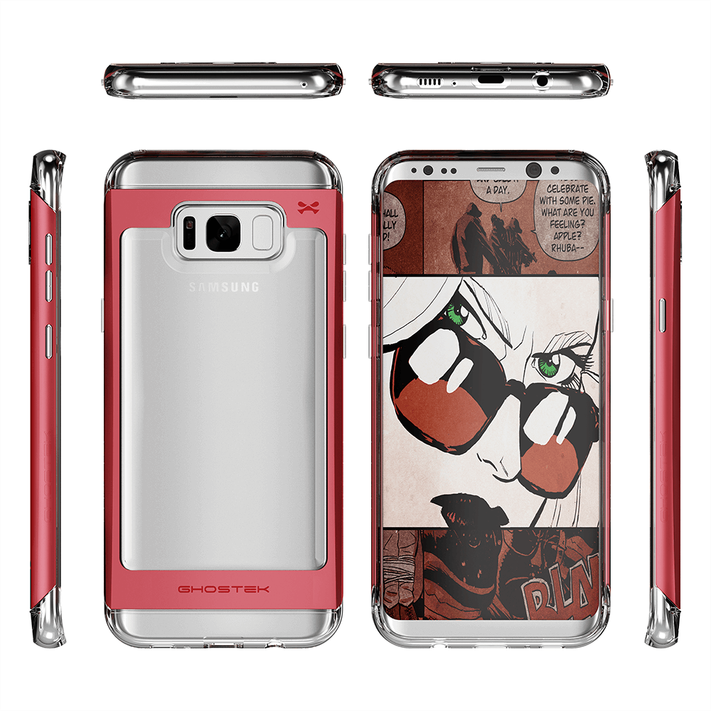 Galaxy S8 Plus Case, Ghostek 2.0 Red Series Case, Aluminum Frame
