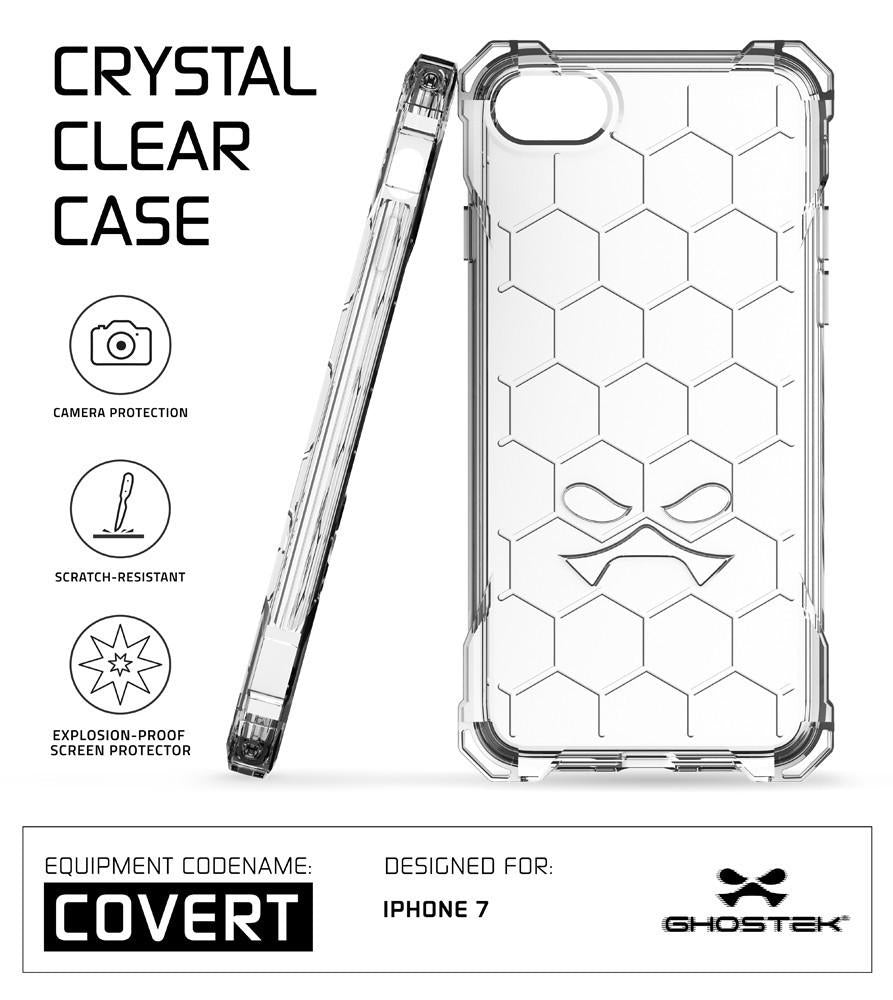 iPhone 7 Plus Case, Ghostek® Covert Clear Series for Apple iPhone 7 Plus Premium Impact Protective Armor Case Cover | Clear TPU | Lifetime Warranty Exchange | Explosion-Proof Screen Protector | Ultra Fit (Clear)